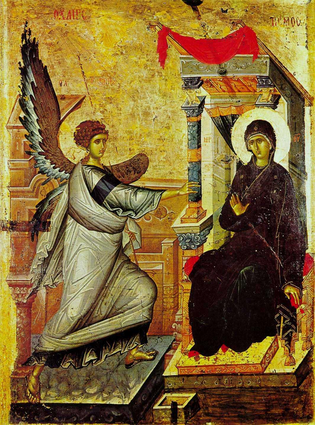 Εικόνα του Ευγγγελισμού από την Αχρίδα, πρώτο τέταρτο του 14ου αιώνα.