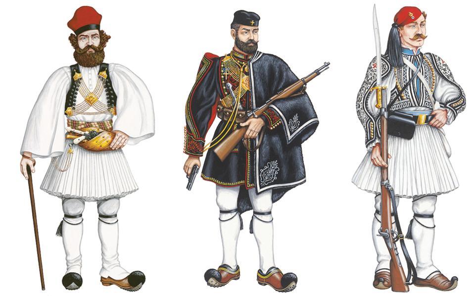 Σαράντα έγχρωμες αναπαραστάσεις της ευζωνικής στολής από τον ζωγράφο και ενδυματολόγο Γιάννη Μυλωνά και τη συλλογή Χαΐτογλου παρουσιάζονται, από τις 21 Μαρτίου, στην αίθουσα Τιμών της Προεδρικής Φρουράς, ξεδιπλώνοντας χρονικά και ενδυματολογικά την ιστορική διαδρομή της «εθνικής μας φορεσιάς» από το 1821 έως τις μέρες μας.